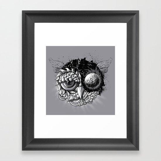 Owl Day & Owl Night Framed Art Print