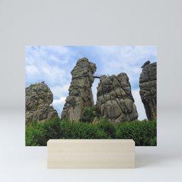 The Externsteine, Teutoburg Forest Mini Art Print