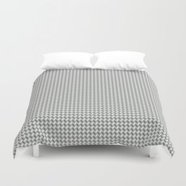 Gray Grey Checkers 3D Pop Monochrome Print Duvet Cover