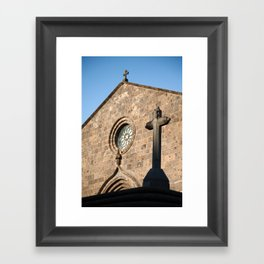 Church in Azores islands Framed Art Print