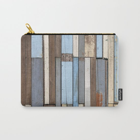 Vintage Wood Carry-All Pouch