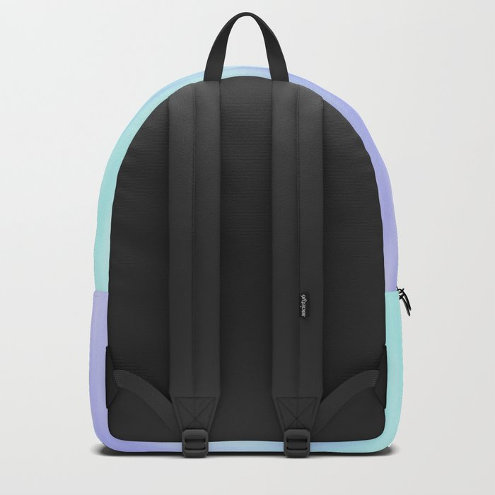 Ice blue abstract design Backpack