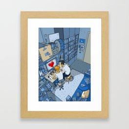 Finding Love - Heart- Passionate - Lovers Framed Art Print