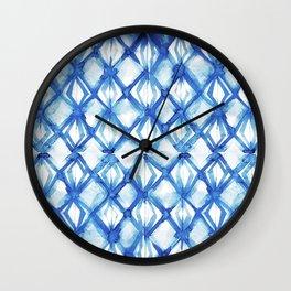 Nautical mermaid scales Wall Clock