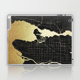Vancouver Canada Black and Gold Map Laptop & iPad Skin