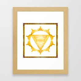 You Are My Sunshine Abstract Chakra Art  Framed Art Print