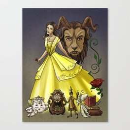 Belle and the Beast Canvas Print
