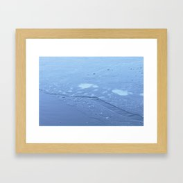 Frozen Chickadee Lake 4 Framed Art Print