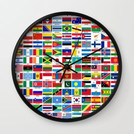 Flags Of The World Wall Clock