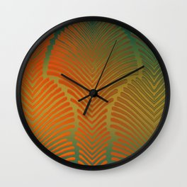 """""""Paradise Zebras Spines"""" Wall Clock"""