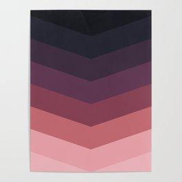 Purple Thunder Storm Poster