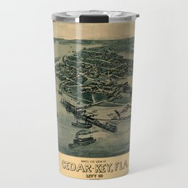 Map of Cedar Key 1884 Travel Mug