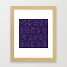 Plum Beetles Framed Art Print