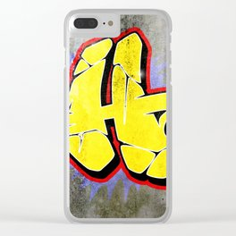 H - Graffiti letter (Wild Style) Clear iPhone Case