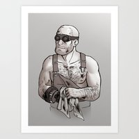 engineer Art Prints featuring Engineer by Kata (koomalaama)