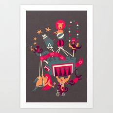 Circus is coming Art Print