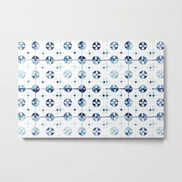 Azulejo I - Portuguese hand painted tiles Metal Print