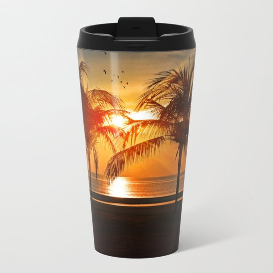 Sunset in the Tropical Islands Metal Travel Mug