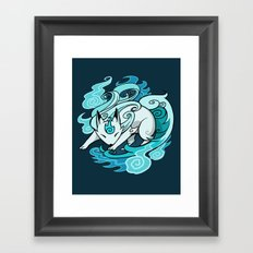 Ghostfire Fox Framed Art Print
