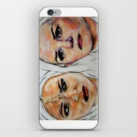 swan queen iPhone & iPod Skins featuring Swan Queen by Bernadette Woods