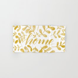 Watercolor home foliage – yellow Hand & Bath Towel