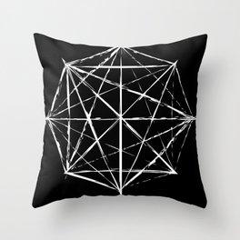 Octagon Diagonals Throw Pillow