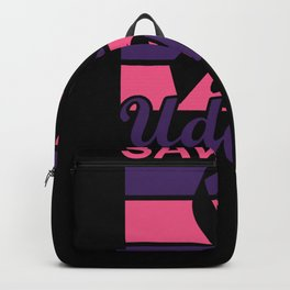 Breast Cancer Awareness Month Ribbon Save the Udders Backpack