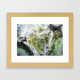 Emerald Green Marble with Gold Framed Art Print