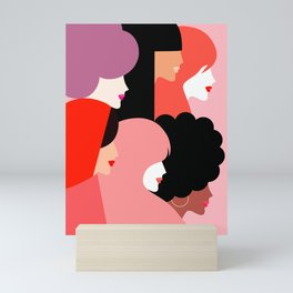 Together we persist  #girlpower Mini Art Print
