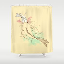 The big fish eat the small ones Shower Curtain
