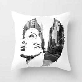 Surimpression Throw Pillow