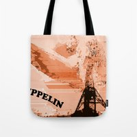 led zeppelin Tote Bags featuring Zeppelin by Avigur