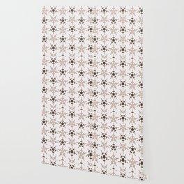 5 Point Star Rustic Texture Winter White Geometric Wallpaper