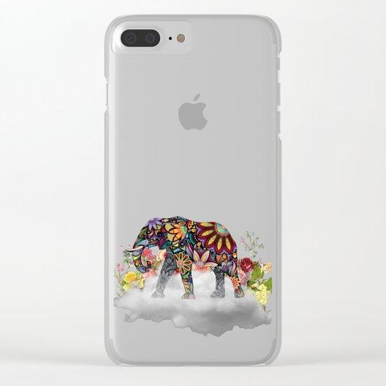 MANDALA ELEPHANT Clear iPhone Case