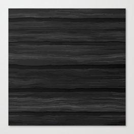 Black Wood Panel Canvas Print