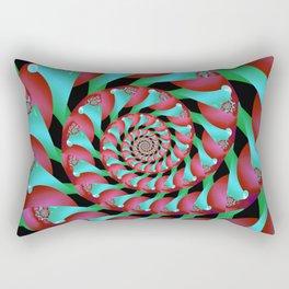 Archimedes' Magenta & Teal Tangent Rectangular Pillow