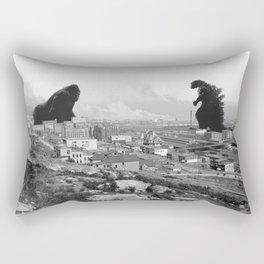 Old time Godzilla vs King Kong Reprised Rectangular Pillow