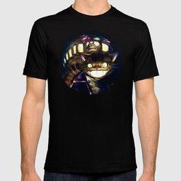 Cat Bus is In Your Town! Miyazaki Tribute Digital Fan Painting T-shirt