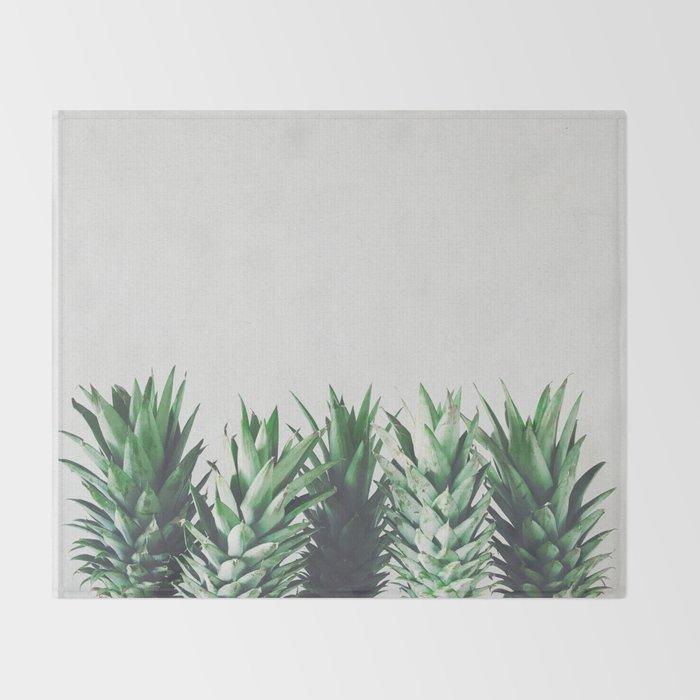 Pineapple Leaves Throw Blanket