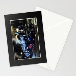 Signaling. Lantern in Mid-Swing. UP 9000. Union Pacific. Steam Train Locomotive. © J. Montague. Stationery Cards