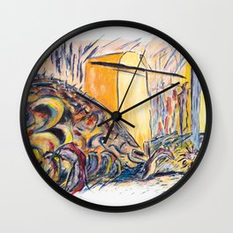 X voYages de Zed (toile 15 - série 1) Wall Clock