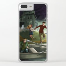 Haunted House Island Clear iPhone Case