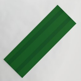 Emerald Green Organic Stripes Yoga Mat
