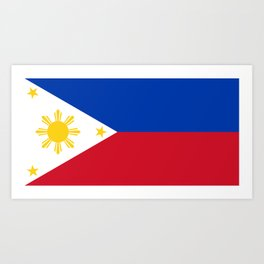 Philippines national flag Art Print