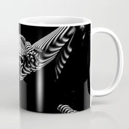 8767-KMA BW Erotic Spread Abstract Nude Sexy Striped Intimate View Reflected Coffee Mug