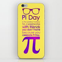 pi iPhone & iPod Skins featuring Pi Day by Square Lemon