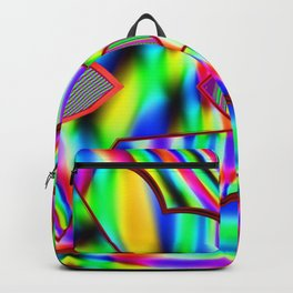 Colorful areas, colorful pattern ... Backpack