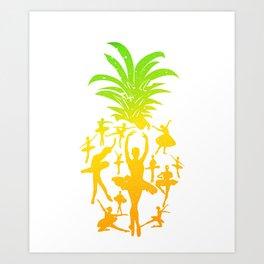 Pineapple Ballet Prima Ballerina T-Shirt Art Print