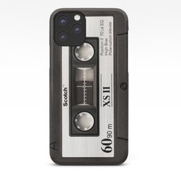 Cassette Tape Black And White #decor #homedecor #society6 iPhone Case