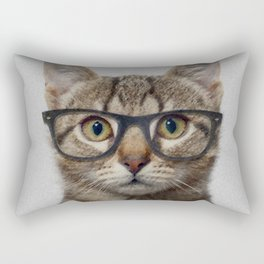Hipster Cat Rectangular Pillow